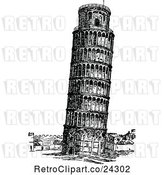 Vector Clip Art of Retro Leaning Tower of Pisa by Prawny Vintage