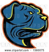 Vector Clip Art of Retro Leavitt Bulldog Dog Mascot by Patrimonio