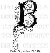 Vector Clip Art of Retro Letter B by Prawny Vintage