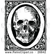 May 4th, 2018: Vector Clip Art of Retro Letter O and Skull by Prawny Vintage