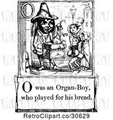 Vector Clip Art of Retro Letter Page with O Was an Organ Boy Who Played for His Bread Text by Prawny Vintage