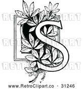 Vector Clip Art of Retro Letter S by Prawny Vintage