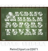Vector Clip Art of Retro Letters on a Chalkboard by BestVector