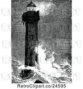 Vector Clip Art of Retro Lighthouse of Tagonroc by Prawny Vintage
