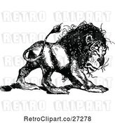 Vector Clip Art of Retro Lion by Prawny Vintage