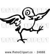 March 21st, 2018: Vector Clip Art of Retro Little Bird by Prawny Vintage