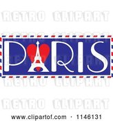 Vector Clip Art of Retro Love Paris Banner by Maria Bell