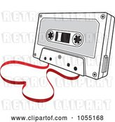 Vector Clip Art of Retro Love Song Cassette Tape with a Heart by Any Vector