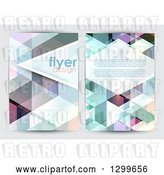 Vector Clip Art of Retro Low Poly Geometric Flyer Template Design with Sample Text by KJ Pargeter