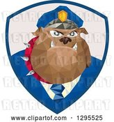 Vector Clip Art of Retro Low Poly Police Bulldog in a Shield by Patrimonio