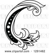 Vector Clip Art of Retro Lowercase Floral Letter C by Vector Tradition SM
