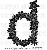 Vector Clip Art of Retro Lowercase Floral Letter D Design by Vector Tradition SM