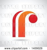 Vector Clip Art of Retro Lowercase Letter R Abstract Design by Cidepix