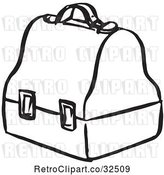 Vector Clip Art of Retro Lunch Box by Picsburg