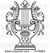 Vector Clip Art of Retro Lyre by Frisko