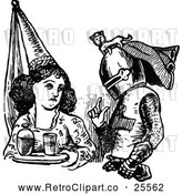 May 9th, 2018: Vector Clip Art of Retro Maiden and Knight by Prawny Vintage
