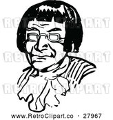 Vector Clip Art of Retro Man with Glasses by Prawny Vintage