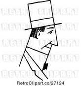 Vector Clip Art of Retro Mans Face in Profile by Prawny Vintage