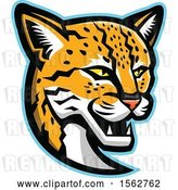 Vector Clip Art of Retro Margay Cat Mascot Head by Patrimonio