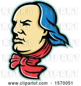 Vector Clip Art of Retro Mascot of Benjamin Franklin by Patrimonio