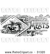 Vector Clip Art of Retro Meats Recipe Book Design by Prawny Vintage