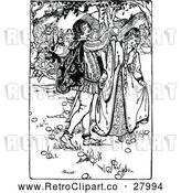 Vector Clip Art of Retro Medieval Couple by Prawny Vintage