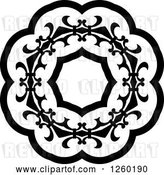 Vector Clip Art of Retro Medieval Lace Circle Design by Vector Tradition SM