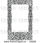 Vector Clip Art of Retro Medieval Page Frame by Prawny Vintage