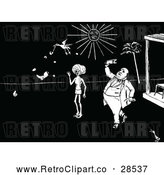 May 4th, 2018: Vector Clip Art of Retro Men and Flying Duck by Prawny Vintage