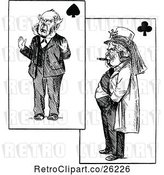 Vector Clip Art of Retro Men on Playing Cards by Prawny Vintage
