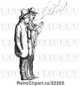 Vector Clip Art of Retro Men Smoking Cigarettes in by Picsburg