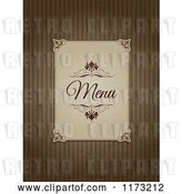Vector Clip Art of Retro Menu Label on Grungy Brown Stripes by KJ Pargeter