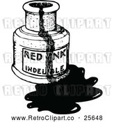 Vector Clip Art of Retro Messy Bottle of Ink by Prawny Vintage