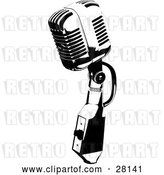 Vector Clip Art of Retro Microphone Speaker by KJ Pargeter