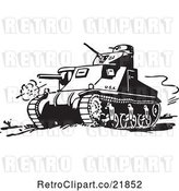 Vector Clip Art of Retro Military Tank by BestVector