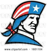 Vector Clip Art of Retro Minuteman American Patriot Soldier by Patrimonio