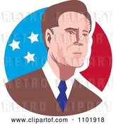 Vector Clip Art of Retro Mitt Romney 2012 Republican American Presidential Candidate by Patrimonio