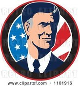 Vector Clip Art of Retro Mitt Romney Republican American Presidential Candidate 2012 by Patrimonio