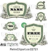 Vector Clip Art of Retro Money Badges and Design Elements 2 by BestVector