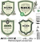 Vector Clip Art of Retro Money Badges and Design Elements by BestVector