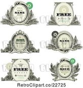 Vector Clip Art of Retro Money Themed Labels with Sample Text by BestVector