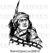 Vector Clip Art of Retro Native American Guy by Prawny Vintage
