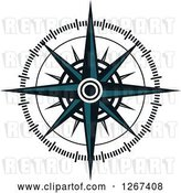 Vector Clip Art of Retro Nautical Compass Rose by Vector Tradition SM