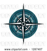 Vector Clip Art of Retro Nautical Maritime Compass Rose by Vector Tradition SM
