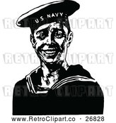 Vector Clip Art of Retro Navy Sailor by Prawny Vintage