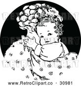 Vector Clip Art of Retro Nurturing Mother Hugging Her Baby by Prawny Vintage