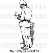 Vector Clip Art of Retro Officer Writing a Ticket by Prawny Vintage