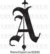 Vector Clip Art of Retro Old English Abc Letter a by BestVector