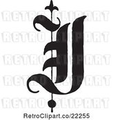 Vector Clip Art of Retro Old English Abc Letter J by BestVector