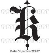 Vector Clip Art of Retro Old English Abc Letter K by BestVector